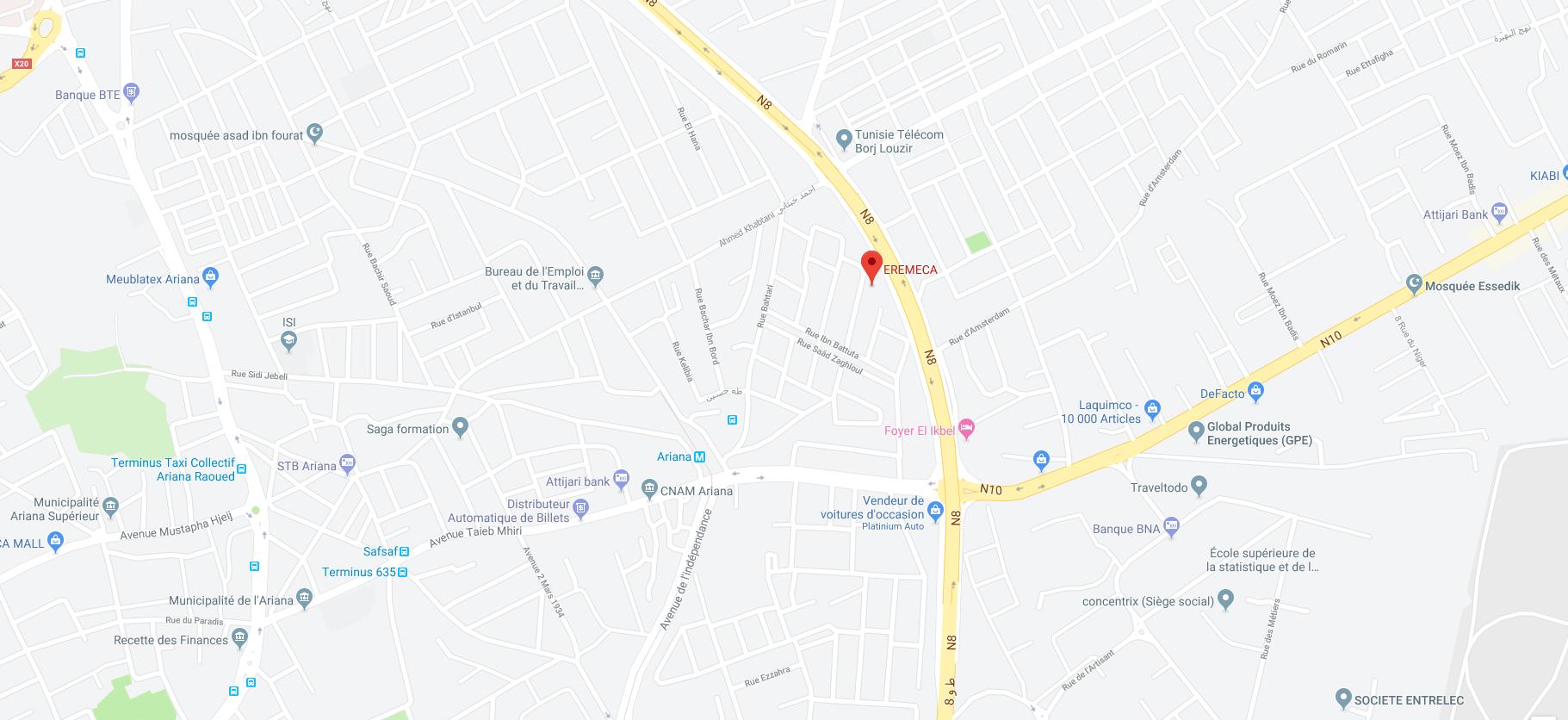 Eremeca-Google Maps